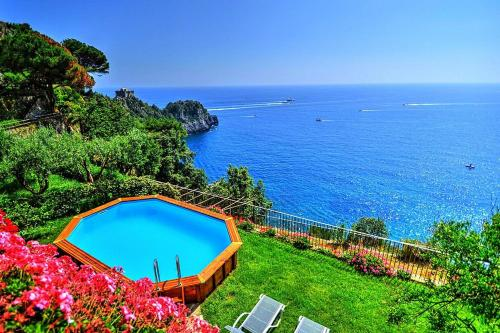 Conca dei Marini Villa Sleeps 10 Pool Air Con WiFi
