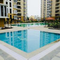 Modern condo unit with swimming pool
