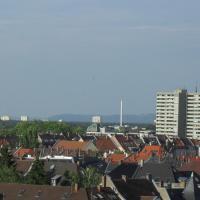 Blick über Karlsruhe - Ferienwohnung Panorama