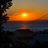 Sea and sunset balcony view Klio