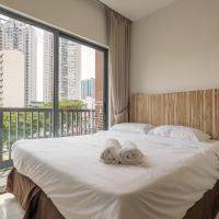 地鐵居民區現代舒適的一室公寓