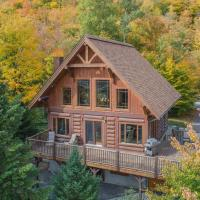 Log Cabin Home with Lake and Mountain view