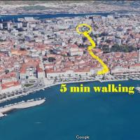 Easy walk to center and private parking
