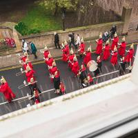 WATCH THE CHANGING OF THE GUARD FROM THE WINDOW ❤︎ of Windsor