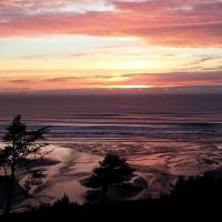 Pastel Sunset at Agate Beach