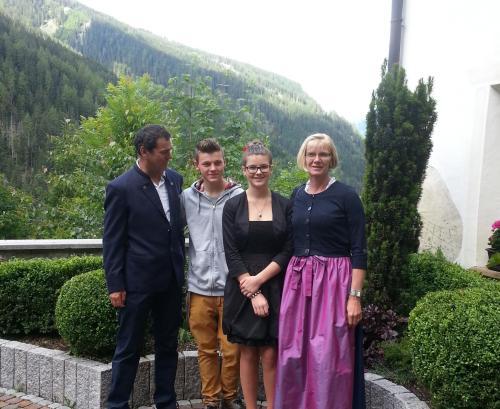 Andreas, David, Lisa und Reggi
