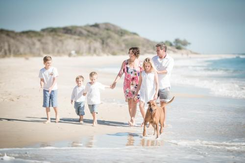 Me, my wife Anna, daughter Poppy, Flynn, Harry, Monty and the dog Max