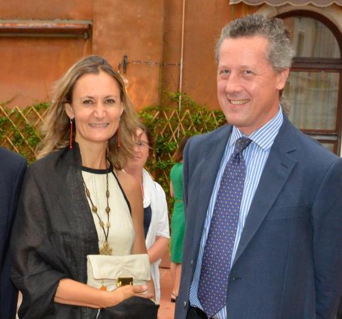 Caroline Gucchierato e Marco Malafante
