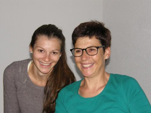 Gastgeberin Brigitta Gundolf und Tochter Daniela