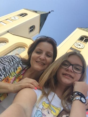 The owner's daughter and manager Villa Stella - Anamarija with her daughter