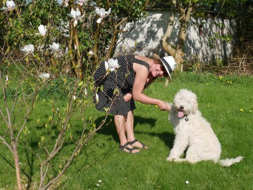 Gitte og Molly (fruen og hunden)