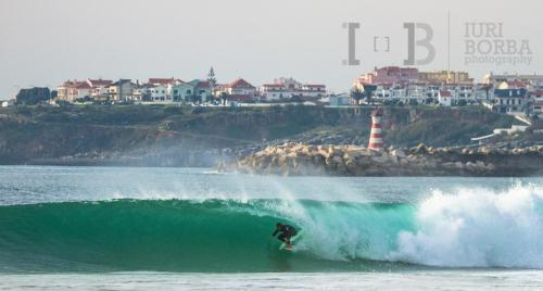 One of the famous Peniche waves , photo by Iuri Borba, professional surf photographer and  Co-Host and Partner from Apartments Baleal