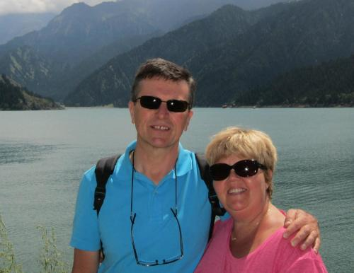 Pascale and her husband Pierre