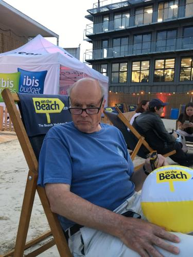 That's me, David enjoying a Beach on top of Camden market