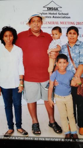 Charith Siriwardena  and family