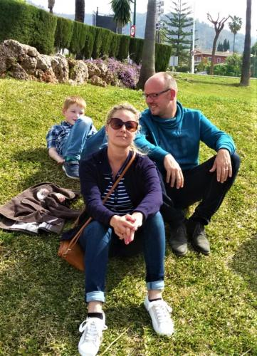 Ramon, Sandra en zoon Miguel
