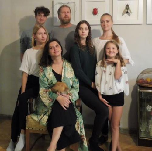 our family f.lt.r: Josua, Nastja,  Mascha, Martin, Malva, Leni, Isolde