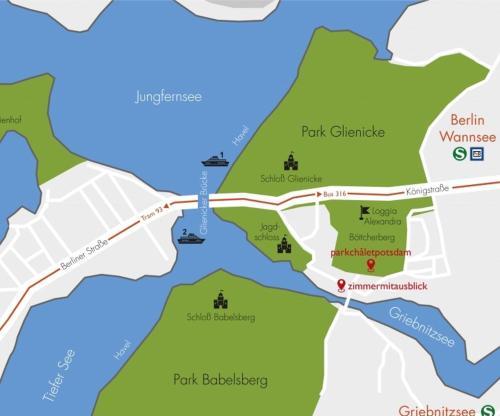 Potsdam Karte Stadtteile.Ferienwohnung Parkchalet Atelier Deutschland Potsdam Booking Com
