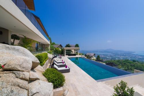 GHS Rockwater Residences.. Panoramic views over Chaweng Bay from Villa Dua