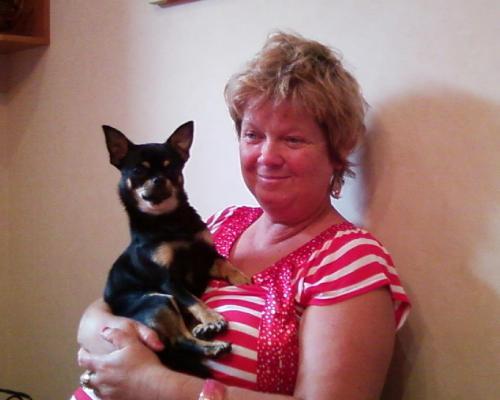 Mariola Crystina und Hund Pino